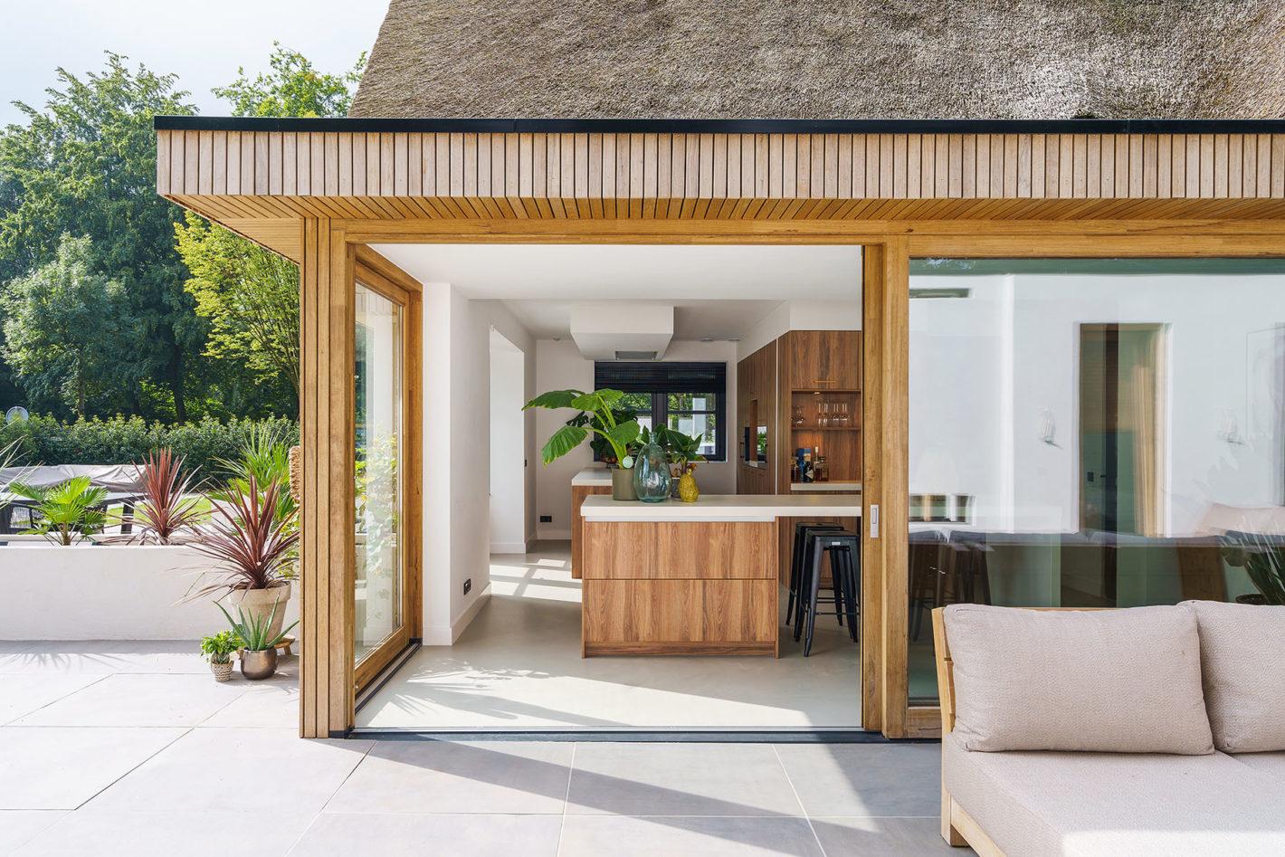 Keuken met natuurlijke materialen